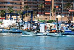 Spanish fishing boats, Fuengirola. Royalty Free Stock Photos
