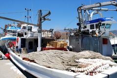 Spanish fishing boats, Fuengirola. Stock Photography