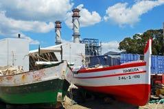 Spanish fishing boats, Puente Mayorga. Stock Photography