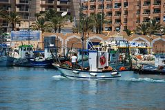 Spanish fishing harbour, Fuengirola. Stock Images