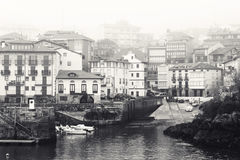 Spanish Fishing Village in the Mist Stock Images