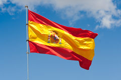 Spanish flag Royalty Free Stock Photos