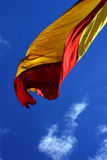 Spanish flag. In the wind royalty free stock photography
