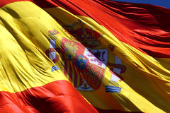 Spanish flag. Giant spanish flag royalty free stock photos
