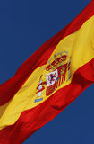 Spanish flag. In the wind Stock Images