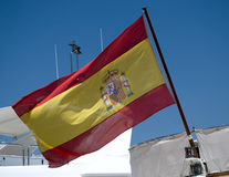 Spanish flag. Stock Image