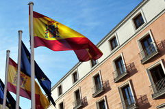 The Spanish flag Stock Image