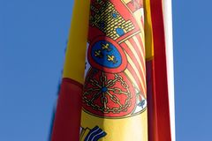 Spanish flag. Detail royalty free stock photography