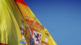 Spanish flag stock video footage