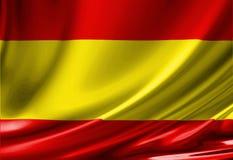 Spanish flag Royalty Free Stock Image