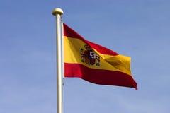 Spanish flag. Flying Royalty Free Stock Images
