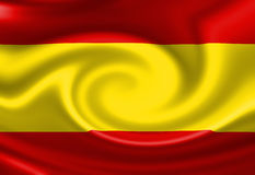 Spanish flag Royalty Free Stock Photo
