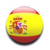 Spanish flag. In the style of a ball Royalty Free Stock Photo