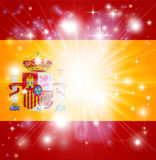 Spanish flag background Stock Image