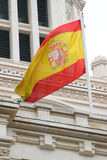 Spanish flag on building Stock Photos