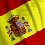 Spanish Flag Closeup Stock Photography