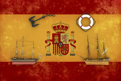 Spanish flag Royalty Free Stock Photo