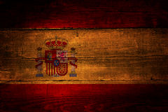 Spanish flag. Royalty Free Stock Photo