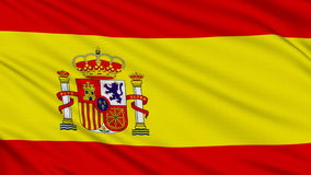Spanish flag. stock footage