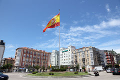 Spanish flag in Santander, Cantabria, Spain Stock Images