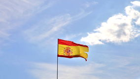 Spanish flag in the sky stock video