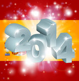 2014 Spanish flag. Flag of Spain 2014 background. New Year or similar concept stock illustration