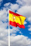 Spanish flag Royalty Free Stock Image