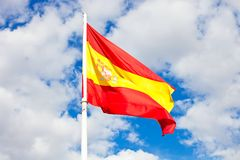 Spanish flag Royalty Free Stock Images