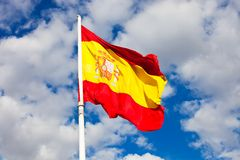Spanish flag Royalty Free Stock Photography