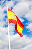 Spanish flag Royalty Free Stock Photos