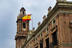 Spanish Flag Valencia Spain Stock Image