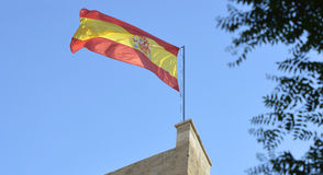 Spanish Flag in Valencia, Spain Royalty Free Stock Images