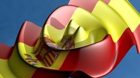 Spanish flag stock footage