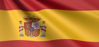 Spanish flag waving royalty free illustration