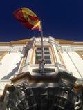 Spanish flag weaving Stock Photos