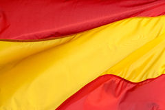 Spanish flag in the wind Royalty Free Stock Image