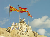 Spanish flags Royalty Free Stock Photography