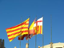 Spanish flags Royalty Free Stock Image