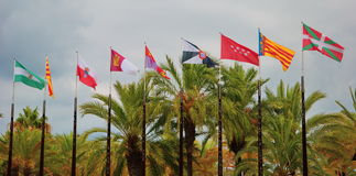 Spanish flags Royalty Free Stock Photos