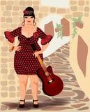 Spanish flamenco beautiful woman Stock Photo