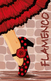 Spanish flamenco dance card Royalty Free Stock Image