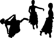 Spanish flamenco dancer Royalty Free Stock Image