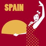 Spanish flamenco dancer. Spanish woman Stock Image