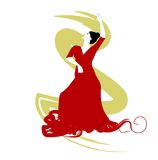 Spanish Flamenco dancer Stock Image