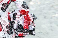 Spanish flamenco dress close up. Royalty Free Stock Photo