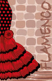 Spanish flamenco holiday card Stock Images