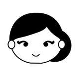 Spanish flamenco woman avatar Stock Images