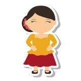 Spanish flamenco woman avatar Stock Photo