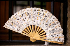 Spanish Folding Fan in Cantabria, Spain Stock Photos