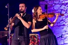 Spanish  folk band Acetre Stock Photography